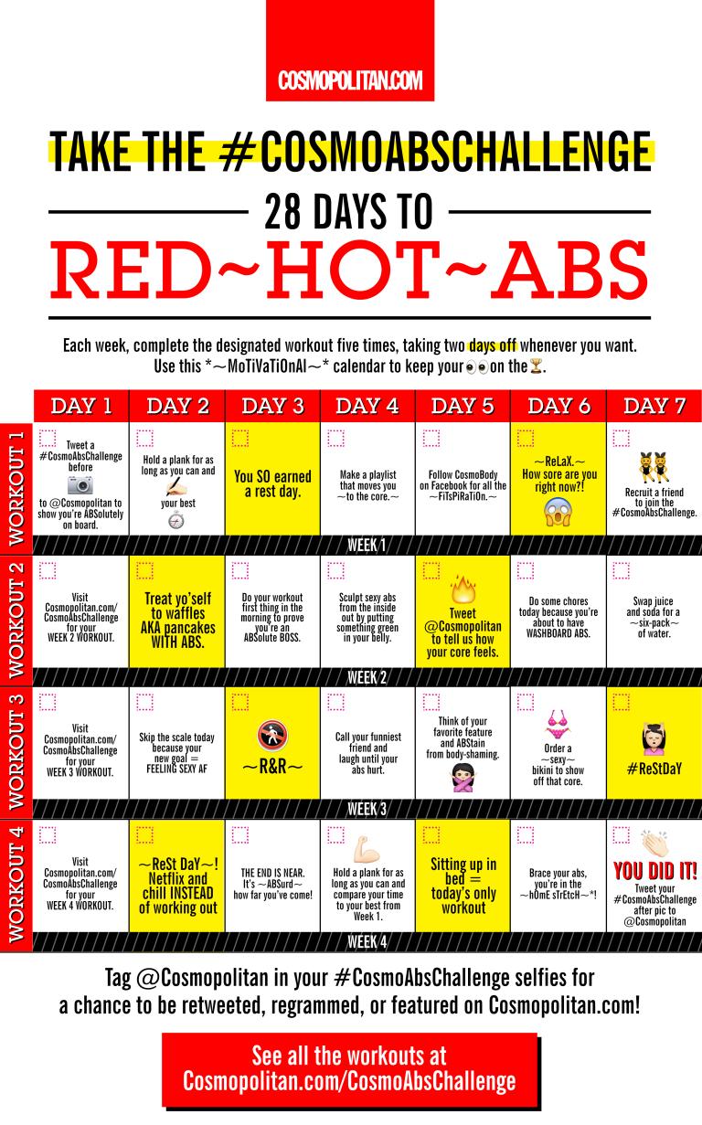 flat belly calendar
