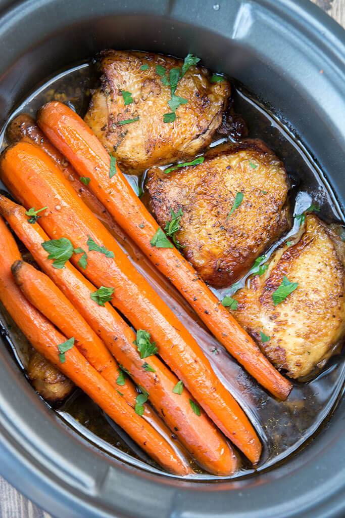 Slow-Cooker Balsamic Chicken with Carrots