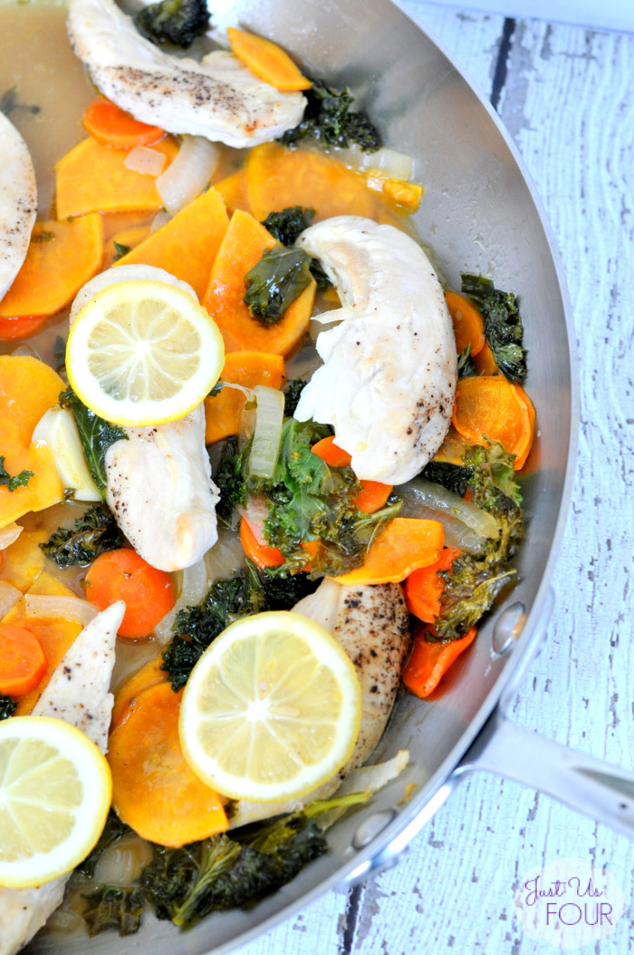 One-pot chicken and kale