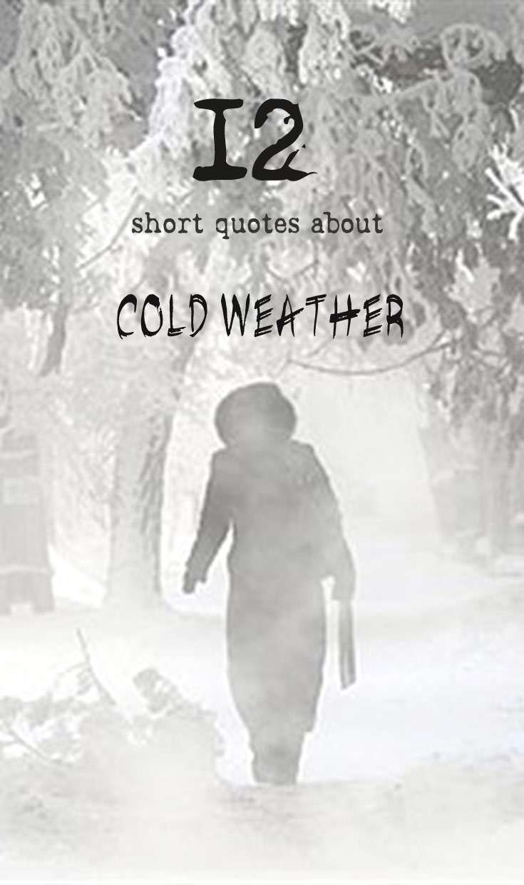 12 short quotes about Cold Weather – Only awesome top lists ...