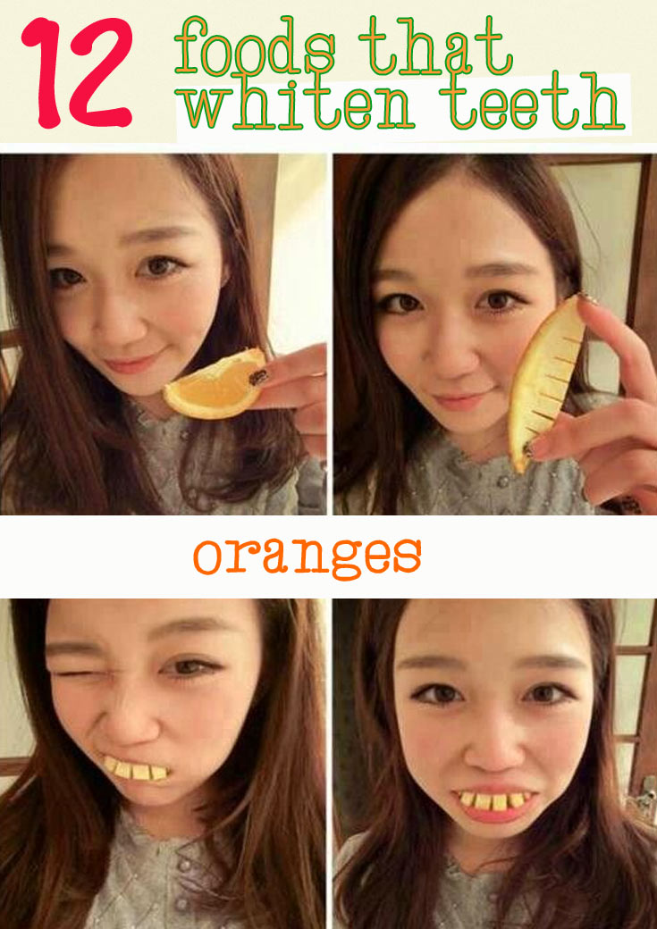 oranges good for teeth
